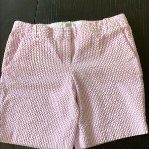 J. Crew seersucker purple white shorts 10
